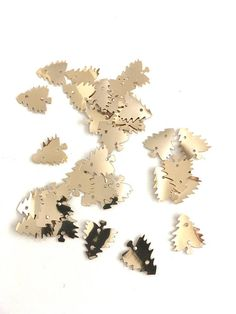 """Christmas Tree Gold Bangles Sequins 5/8"""" Notions Crafting 6 Packages Set of 300 Unopened Vintage Sew On Decorations Holiday Ornaments"""