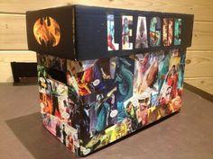 Short box comic storage decoupage