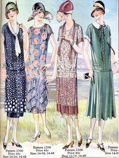 Pictorial Review Patterns, 1925 by Gatochy, via Flickr