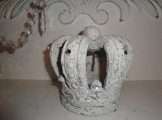 Shabby Paris Chic Stone Crown Candle Holder by JCKEEVER on Etsy