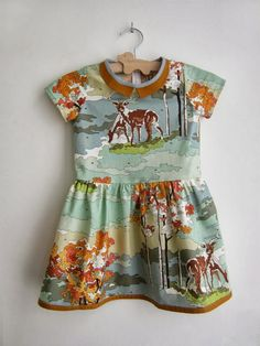 deer dress with amber accents // straightgrain