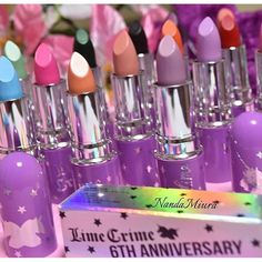 We are saying goodbye to Unicorn Lipstick as we make room for A TON of new stuff this year. This is such an end of an era for us. We can't believe it's been 6 years since @doedeere formulated Lime Crime's first ever lip product - she had no idea that Lime Crime would eventually become known for lips!!! Thank you all for making this range a success, if you want back-ups you can get the remaining stock for just $8 on limecrime.com/sale