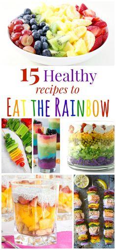 Healthy Recipes to Eat the Rainbow Pin