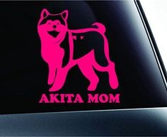 Akita Mom Dog Symbol Decal Funny Car Truck Sticker Window (Pink) ExpressDecor http://www.amazon.com/dp/B00S1QETJS/ref=cm_sw_r_pi_dp_aVfSub1ZCEW7B