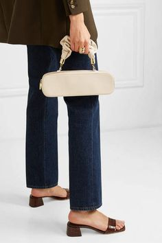 The Sant - Kinchaku Mini Leather Tote - White #sponsored #ad #paid   Thank you Net-A-Porter for sponsoring today's post. Italian Leather, White Leather, Vegan Leather, Jennifer Fisher, Blazer, Fashion Online, Summer Outfits, Nordstrom, Mini