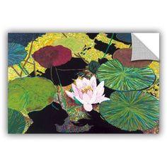 ArtAppealz Allan Friedlander Steamy Pond Removable Wall Art, Size: 24 x 36, Pink