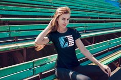 Hockey Shirt, Hockey Tee, Hockey Player on American Flag Shirt, Proud Hockey Player Clothes, Women's short sleeve t-shirt Hockey Shirts, Hockey Players, Flag Shirt, T Shirts For Women, Trending Outfits, Tees, American Flag, Party Ideas, Baseball
