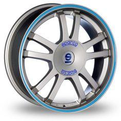 OZ Sparco Rally 6.5x15 ET 37 4x100 Matt Sil Tec Blu