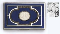 AN AUSTRIAN SILVER-GILT AND ENAMEL CIGARETTE-CASE  VIENNA, C. 1900, MAKER'S MARK FN  Oblong, the hinged cover decorated with deep blue enamel on an engine- turned ground and centring a cameo depicting a bacchic procession of putti, marked inside and on cover, the rim engraved 'NISSEL & SIKORA, KARNTNER STR - Silver, Furniture and Works of Art from the Collection of H.R.H. The Princess Margaret, Countess of Snowdon…