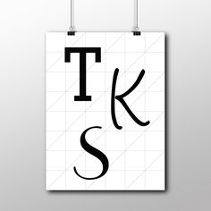 Letterposter 5, op maat gemaakt - Het Noteboompje