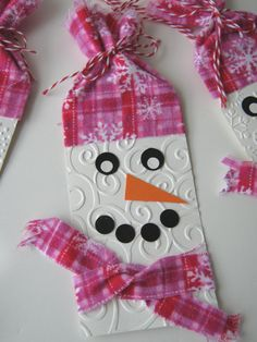 Snowman Christmas Gift Tags Holiday Gift Tags by CharonelDesigns, $5.50
