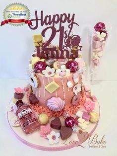 Pink Gin Choc Drip cake - June 2020 Choc Drip Cake, Cake Business, Cake Makers, Novelty Cakes, Drip Cakes, Homemade Cakes, Gin, Birthday Cake, Baking