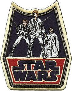 Star Wars Retro Badge Embroidered Iron On Applique Patch