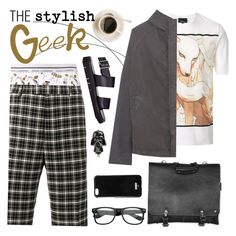 """""""The Stylish Geek"""" by ivansyd ❤ liked on Polyvore featuring 3.1 Phillip Lim, Yeezy by Kanye West, Dolce&Gabbana, Gucci, Buttero, Givenchy, ZeroUV, men's fashion and menswear"""