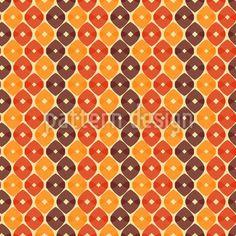 Geometrische Ornamente in Herbstfarben ergeben diese interessante Textur.