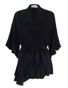 Empire Sueded Robe Top