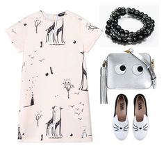 """Funny animals and Mandes bracelets ☺️🐱👀"" by ramint on Polyvore featuring Rochas, Karl Lagerfeld and Anya Hindmarch"