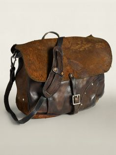 Will you find a bag you like at www. Leather Mailbag Heavily distressed mailbag based on a vintage US Postal Service style and crafted from hand-finished, vegetable-tanned Italian leather. Vintage Leather Messenger Bag, Leather Backpack, Leather Men, Brown Leather, Leather Bags, Sac Week End, Leather Projects, Leather Accessories, Backpack Bags