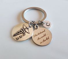 CNA keychain She believed she could so she did by MemorableCharms
