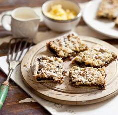 This Christmas traybake is very quick and easy – much faster than making mince pies. The cooked streusel freezes very well – always serve warm with cream or brandy butter.