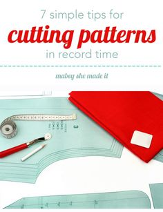 Cutting patterns can