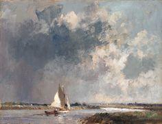 https://flic.kr/p/osn5Hg | Edward Seago. Approaching Storm, near River Thurne, Norfolk