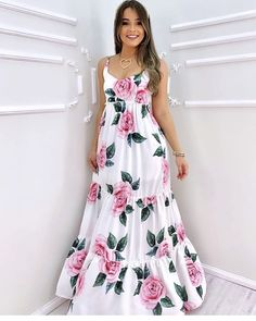 Classy Outfits, Beautiful Outfits, Nice Dresses, Short Dresses, Frock For Women, Latest African Fashion Dresses, Floral Fashion, Western Dresses, Chic Dress