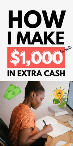 Make More Money, Ways To Save Money, Make Money From Home, Money Tips, Frugal Living Tips, Frugal Tips, Extra Cash, Extra Money, Make 100 A Day