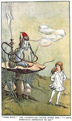 W.H. Walker. Alice's Illustrated Adventures In Wonderland: Chapter 5 ~ Advice From A Caterpillar