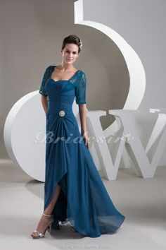 f031d226bb0 Bridesire - Sheath Column Sweetheart Floor-length 3 4 Length Sleeve Chiffon  Dress