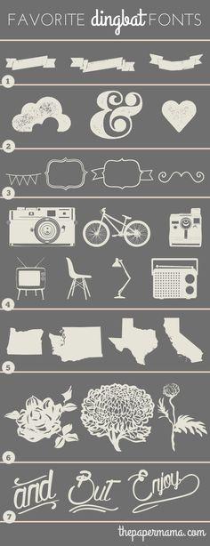 My Favorite Free Dingbat Fonts! // thepapermama.com