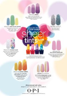 Fun and easy #nailart with OPI Products Sheer Tints!