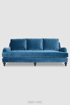 Cushion-Back English Roll-Arm Sofas, Sectionals, Armchairs   Basel from Roger + Chris