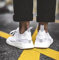 """Adidas NMD-R1 Pk """"White"""" with Gum soles.  May2017. Adidas Nmd R1, Adidas Sneakers, Sneakers Fashion, Fitness Fashion, Adidas Shoes"""