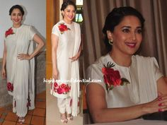 madhuri-dixit-rohit-bal-white-suit-dance-festival-launch
