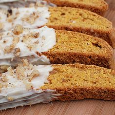 Pumpkin Gingerbread Biscotti with White Chocolate... all my favorite flavors!