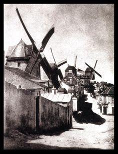 PARIS ,The windmills of Montmartre, Photo by Hippolyte Bayard. Montmartre Paris, Vintage Pictures, Old Pictures, Old Photos, Vintage Paris, History Of Photography, Paris Ville, I Love Paris, Paris Photos