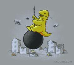 Wrecking Ball – T-shirt available at Naolito.com