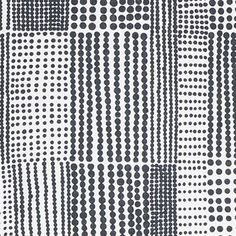 Pricktyg fabric - black-white - Almedahls