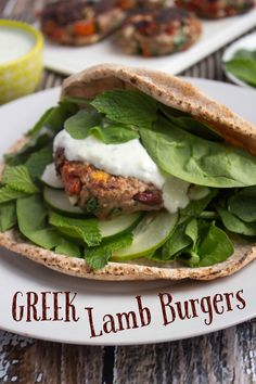 These Greek Lamb Burgers feature feta, olives, and sundried tomatoes for a super flavorful yet easy meal! | easy dinner recipes | healthy dinner recipes | greek lamb recipes |