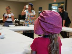 Campers age five to eight learning how to make Schnetje.