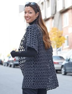 Yarnspirations.com - Caron Perfect Office Crochet Jacket - Patterns    Yarnspirations