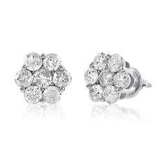 Jewelcology - GIVE GM 14KT 1.00 CTTW DIAMOND FLOWER EARRING, $925.00 (http://jewelcology.com/give-gm-14kt-1-00-cttw-diamond-flower-earring/)