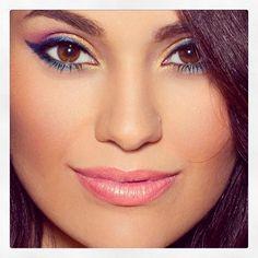 makeup by Jordan Liberty colourful liner