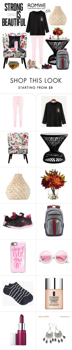 """""""Getting Ready To Go!"""" by bevmardesigns ❤ liked on Polyvore featuring Boohoo, Threshold, Nearly Natural, Rykä, adidas, Casetify, ZeroUV, J.Crew and Clinique"""
