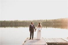 Elopement at the Lake - An intimate backyard wedding in Ontario followed by gorgeous lakeside photos at sunset.