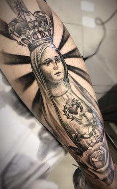 20 Fotos de Tatuagens masculina na perna Dope Tattoos, Tattoos Arm Mann, Arm Tattoos For Guys, Future Tattoos, Body Art Tattoos, Sleeve Tattoos, Angel Sleeve Tattoo, Tatoos, Tatoo Designs