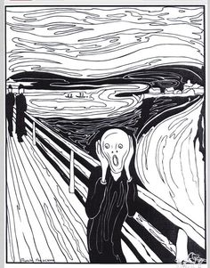 Munch coloring page