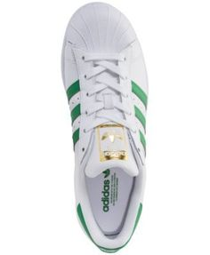 on sale 031ae 04046 adidas Women s Superstar Casual Sneakers from Finish Line - WHITE GREEN 5.5 Adidas  Superstar,
