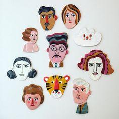 Clay figures by Ingela Arrhenius